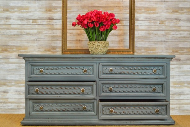 Recycled 6 Drawer Sideboard offered for sale from Naples Canvas and Upholstery.